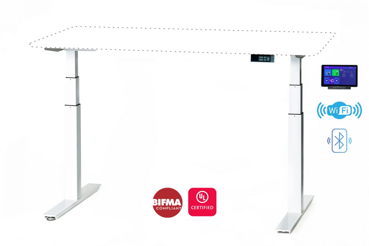 Nextergo Standing Desk [Tabletop not included] with Nextergo Solutions 8-Inch Touchscreen Controller