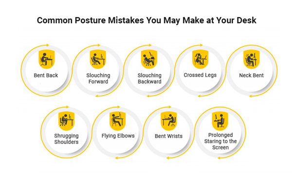 Common posture mistakes you may make at your desk