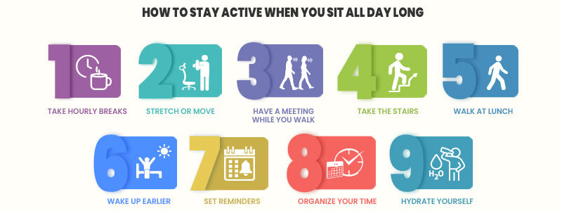 How to Stay Active When You Sit All Day Long