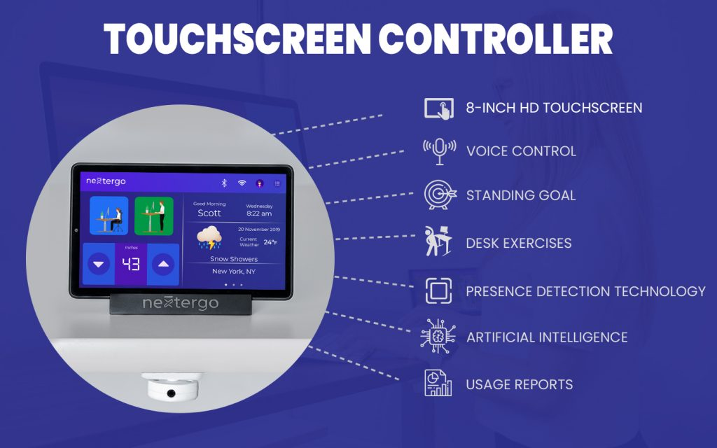 8-inch HD touchscreen