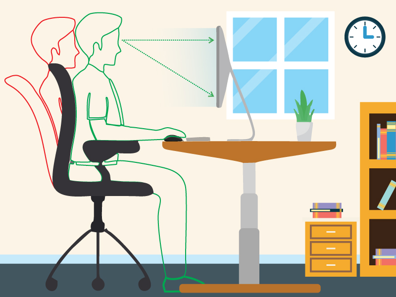 How To Correct Your Sitting Posture At Your Desk