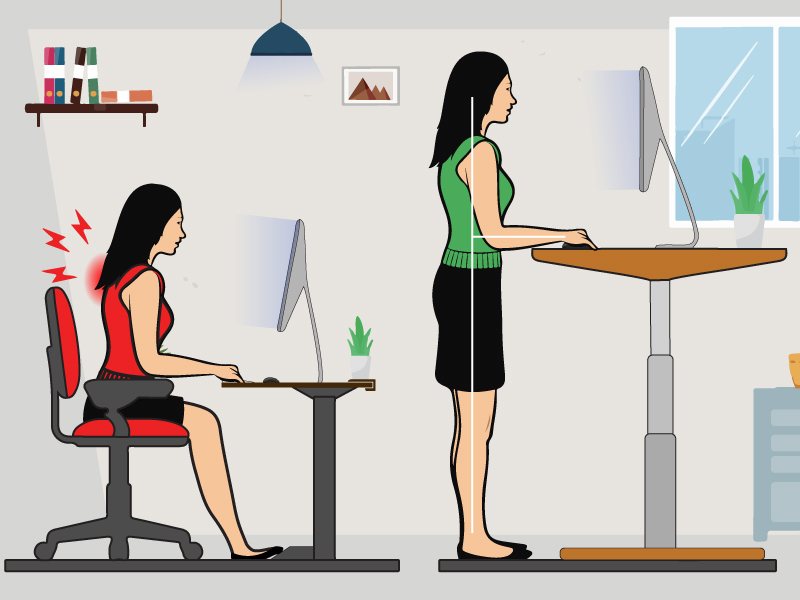 How Standing Desks May Help Reduce Neck Pain?